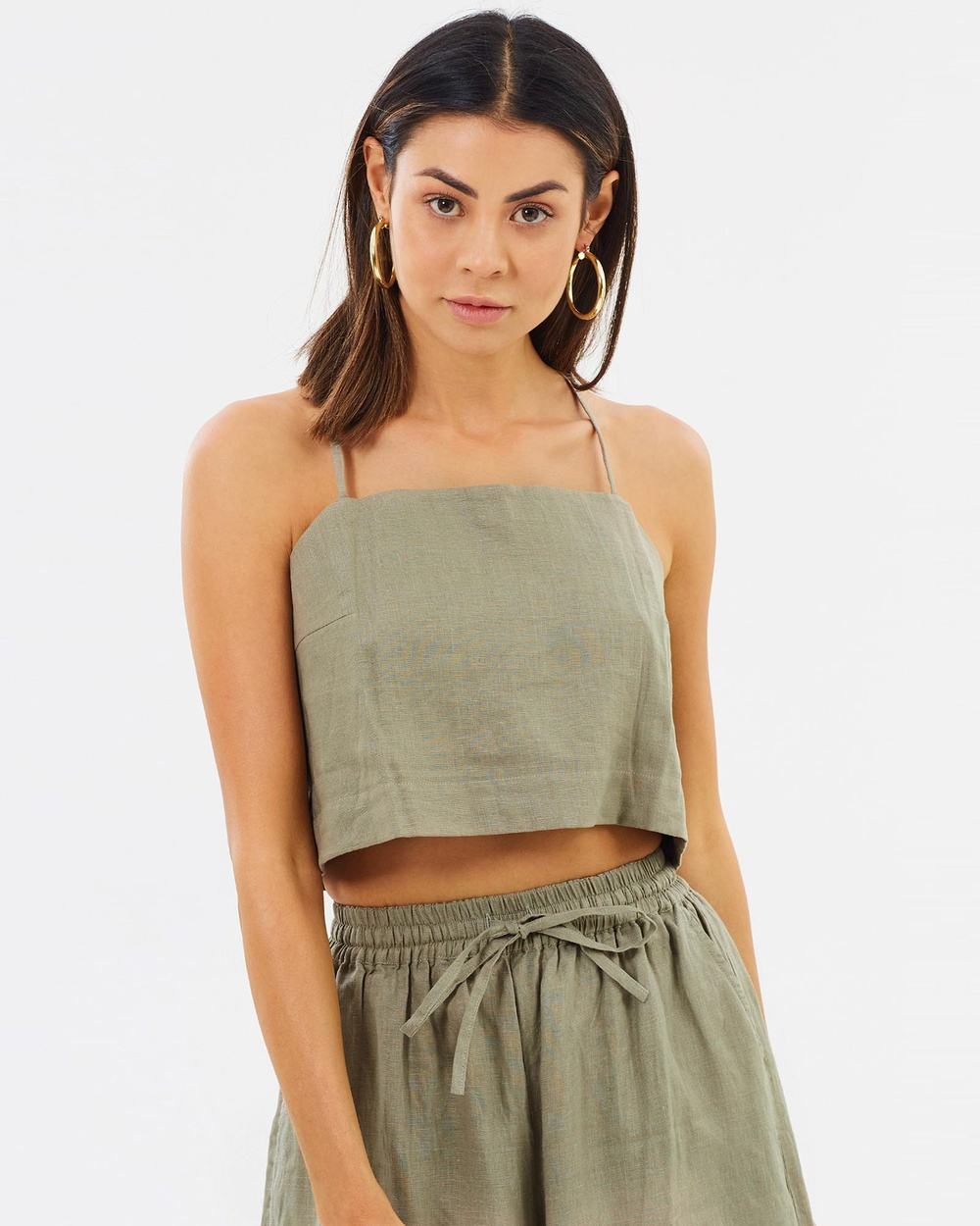 Arthur Apparel Mini Camisole Cropped tops Sage Mini Camisole