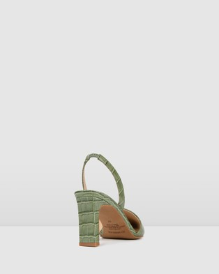 Jo Mercer Kyra Mid Heels - All Pumps (Sage Croc)