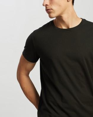 RRL Crew Neck Short Sleeve T Shirt - T-Shirts & Singlets (Faded Black Canvas)