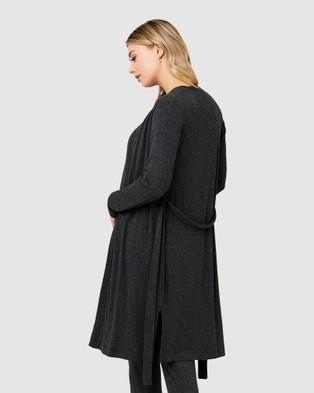 Ripe Maternity Jersey Rib Robe - Sleepwear (Charcoal)