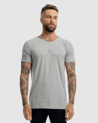 Xander Monarch Embroidery Tee - T-Shirts & Singlets (GREY)