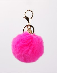 Belle & Bloom - Faux Fur Pom Pom Key Ring