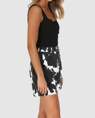 BY.DYLN Reece Shorts - Denim (Cow)