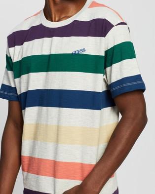 Guess Originals Go SS Multicolour Stripe Tee - T-Shirts & Singlets (Multicolour Stripe Heather)