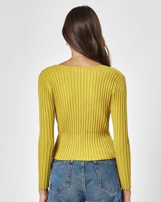 Charlie Holiday Stella Knit - Jumpers & Cardigans (Chartreuse)