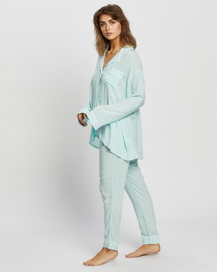 Jasmine and Will Maternity Long Pyjama Set - Two-piece sets (Mint)