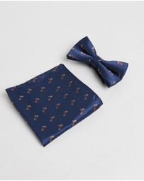 Staple Superior - Dachshund Bow Tie & Pocket Square Pack