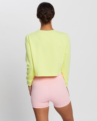 Doyoueven Staple Cropped Jumper - Sweats (Yellow)