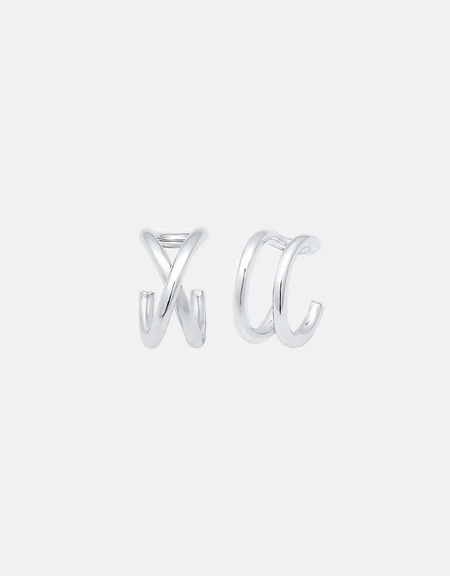 Women Earrings Ear Cuff Geo Basic Minimalist 925 Sterling Silver