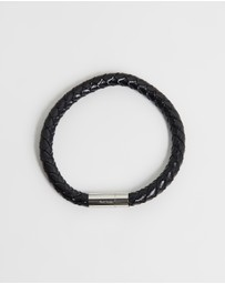 Paul Smith - Leather Plait Bracelet - Men's