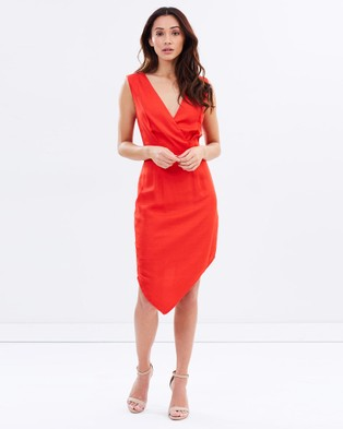 Buy Honey and Beau - Fiesta Crossover Dress Red -  shop Honey and Beau dresses online
