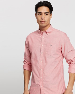 Gant The Oxford Regular Button Down Shirt - Casual shirts (Bright Red)
