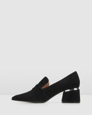 Jo Mercer Celeste Low Heel Loafers - Mid-low heels (Black)