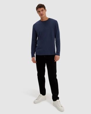 SABA - SB Walker Long Sleeve Super Soft Tee - T-Shirts & Singlets (French Navy) SB Walker Long Sleeve Super Soft Tee