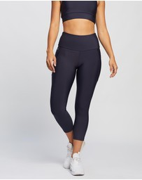 Brasilfit - High Waisted Mid Calf Tights with Pockets