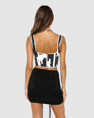 BY.DYLN Karter Corset - Cropped tops (Cow)
