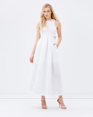 Friend of Audrey – Dion Full Length Cut Out Dress – Bridesmaid Dresses (White)