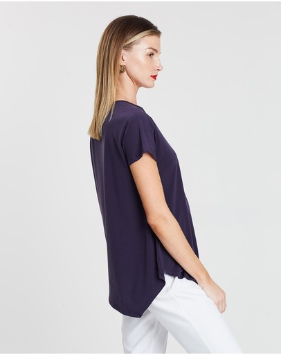 Faye Black Label Loose Pocket Top Storm