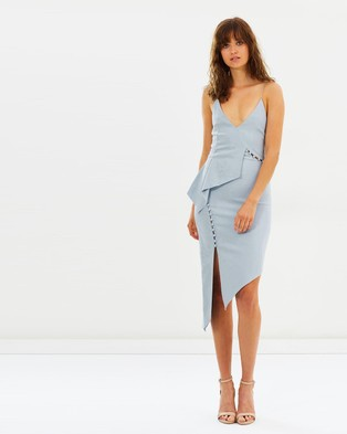 Bec & Bridge – Honeysuckle Asymmetric Dress Powder Blue