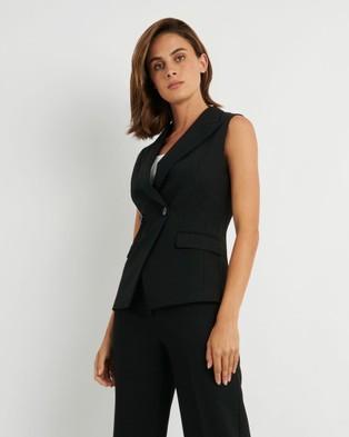 Forcast Toni Sleeveless Blazer - Suits & Blazers (Black)