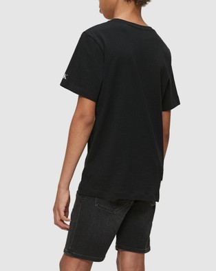 Calvin Klein Jeans Institutional Logo Tee   Teens - T-Shirts & Singlets (CK Black)