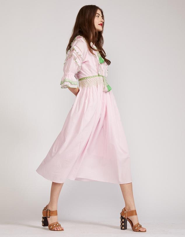 Women Daliah Tassel Cotton Dress