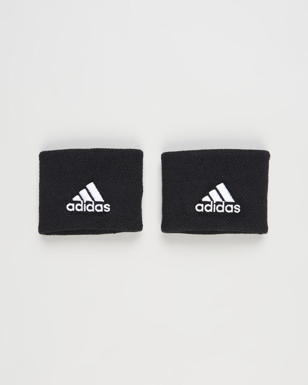 adidas Performance Small Tennis Wristbands Unisex Sweat Bands Black & White