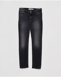 Calvin Klein Jeans - Athletic Wash Stretch Skinny Jeans - Kids-Teens