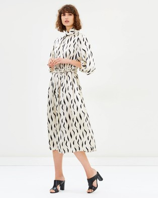 Joseph – Zebra Owen Long Dress Ecru & Black