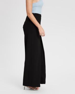 Montique Ella Stretch Crepe Pants - Pants (Black)