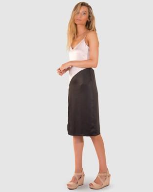 RH Swimwear Colourblock Slip Dress - Dresses (Nude/black)