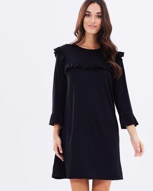 Atmos & Here – Darla Jersey Frill Dress – Dresses (Black)