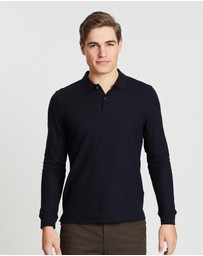 Kent and Curwen - Three Lions Long Sleeve Polo