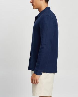 AERE Indigo LS Resort Shirt Casual shirts Blue