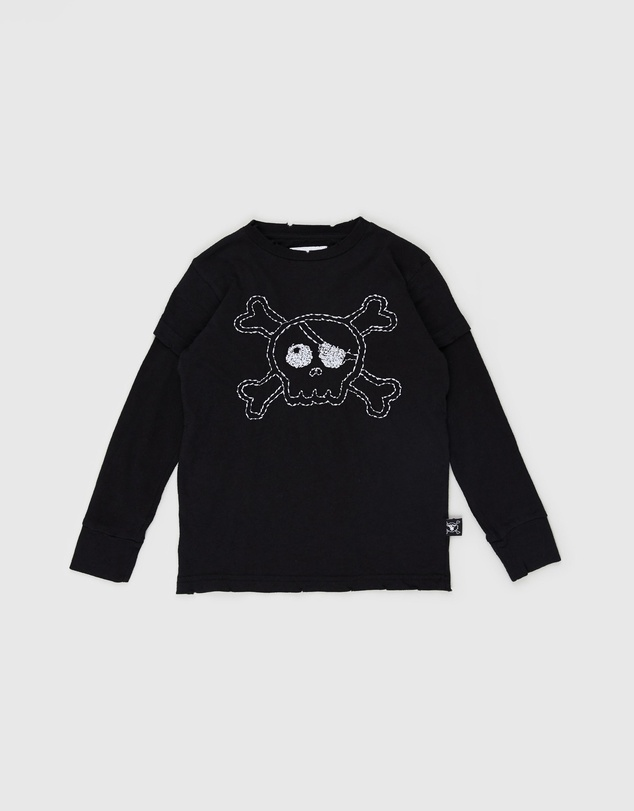 Nununu - Embroidered Skull T-Shirt - Kids