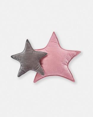 Nana Huchy Large Velvet Star Cushion - Accessories (Pink)