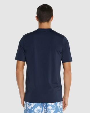 Okanui Logo Short Sleeve Rash Shirt - Swimwear (Blue)