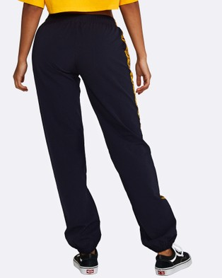 Nicky Kay Logo Track Pants - Sweatpants (Navy, Yellow)