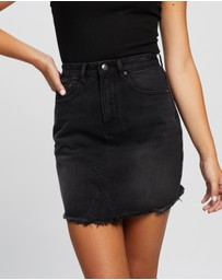 Atmos&Here - Jade Recycled Cotton Blend Denim Mini Skirt