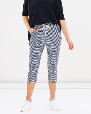 Lincoln St Crop Relaxed Pants - Pants (Denim Stripe)