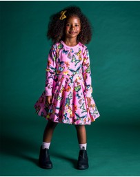 Rock Your Kid - Butterflies Waisted Dress - Kids-Teens