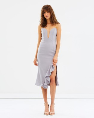 DELPHINE – Downward Spiral Dress Grey