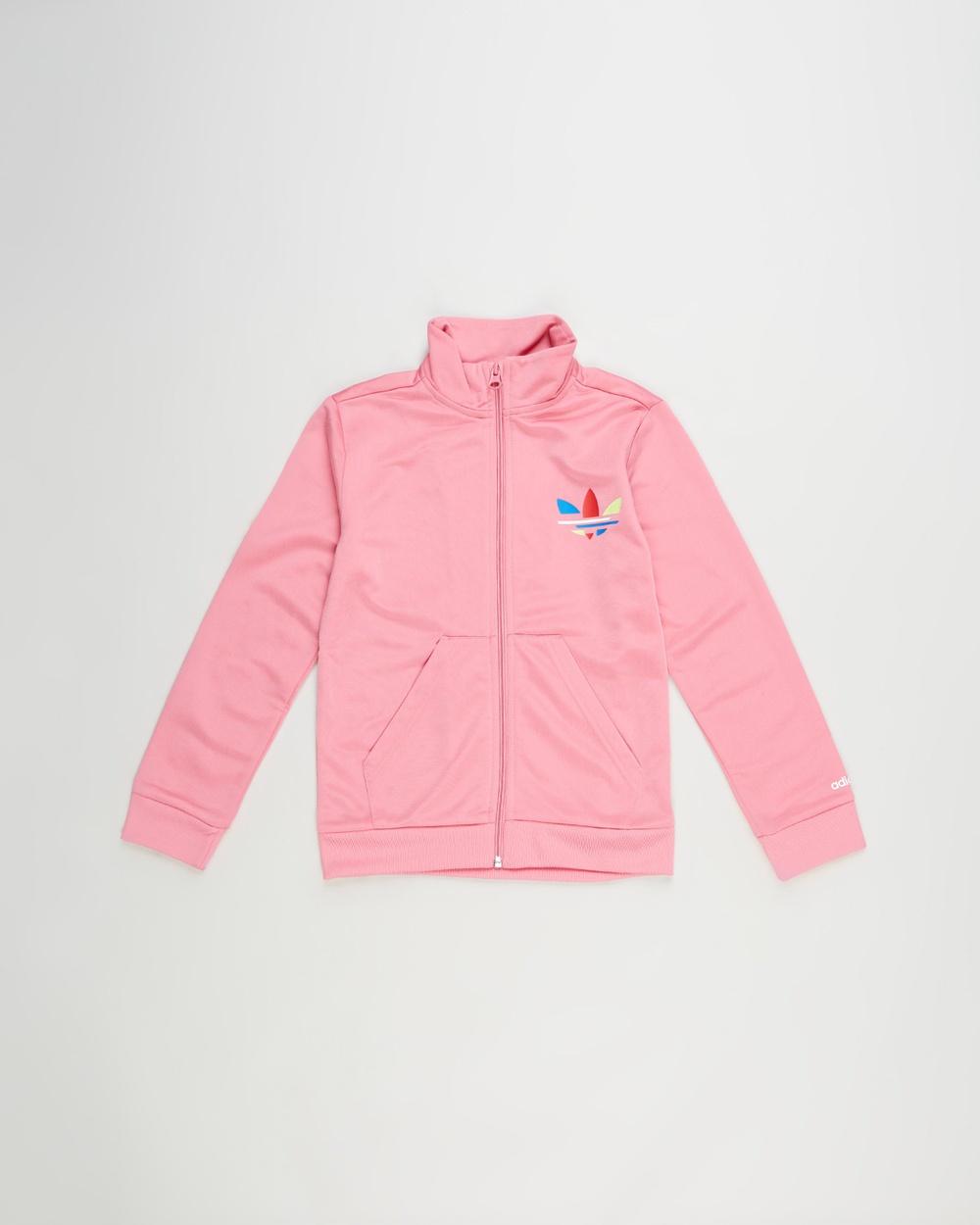 adidas Originals Adicolor Track Top Kids Teens Coats & Jackets Rose Tone Kids-Teens