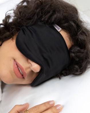 Shhh Silk Silk Eye Mask - Sleep (Black)