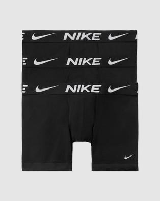 Nike Essential Micro Boxer Briefs   3 Pack - Underwear & Socks (Black)