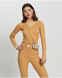 Missguided - Lounge Ruche Front Top Co-Ord