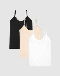 Boody Organic Bamboo Eco Wear - 3-Pack Cami Top