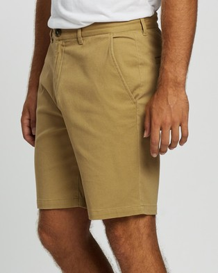 Staple Superior Organic Organic Casual Chino Shorts - Chino Shorts (Latte)