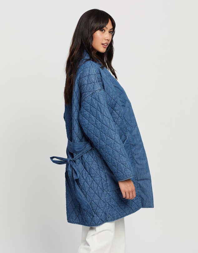 Women Longline Quilted Jacket
