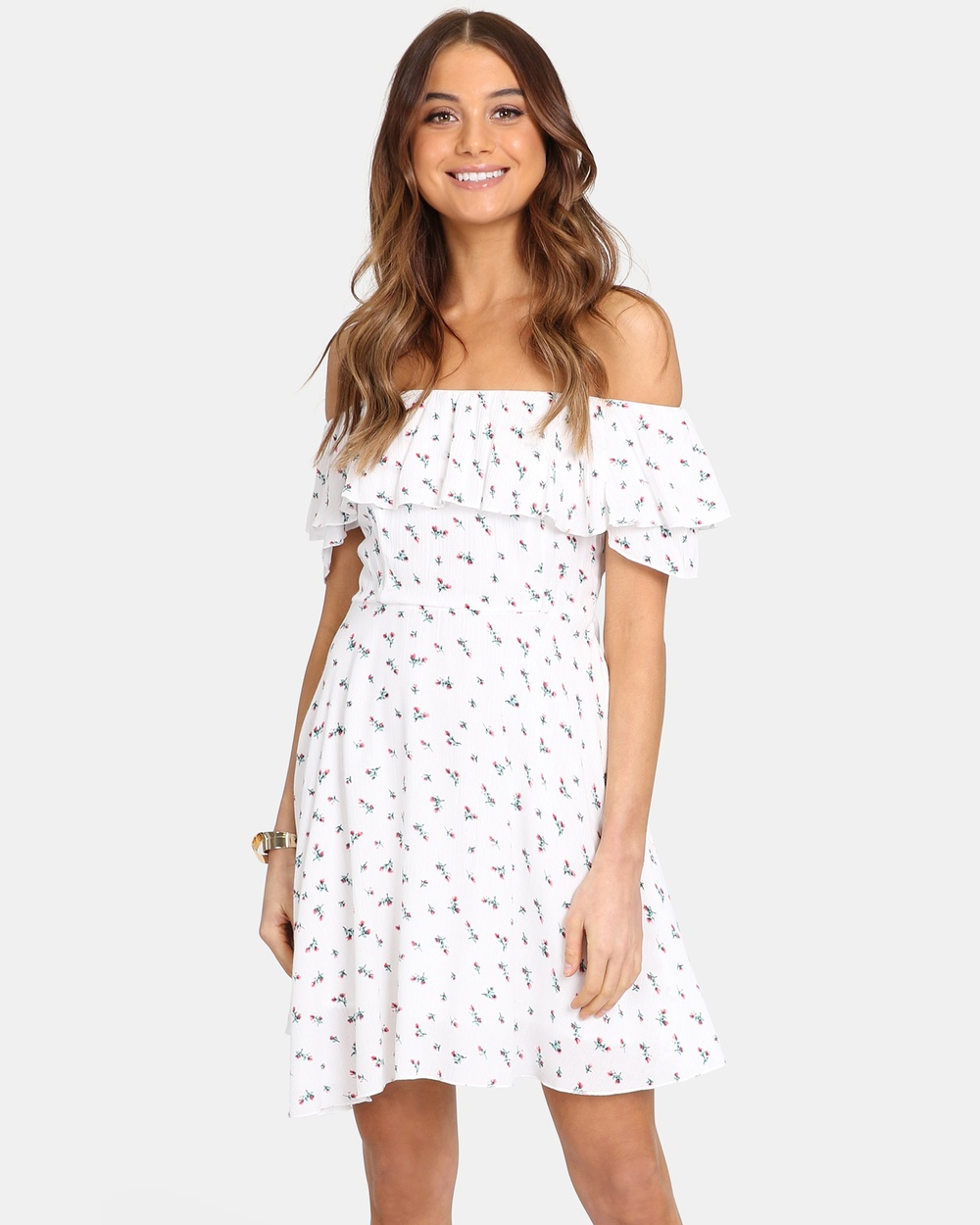 Lost in Lunar White Darci Swing Dress
